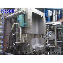 Molde de sopro de extrusão de 25L Jerry Can com dispositivo de deflashing automático