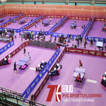Enlio Table Tennis Sertifikasi ITTF PVC Sports Flooring