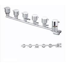 Factory Top  Brass thermostatic 6 Ways mixer taps  bathroom shower faucet