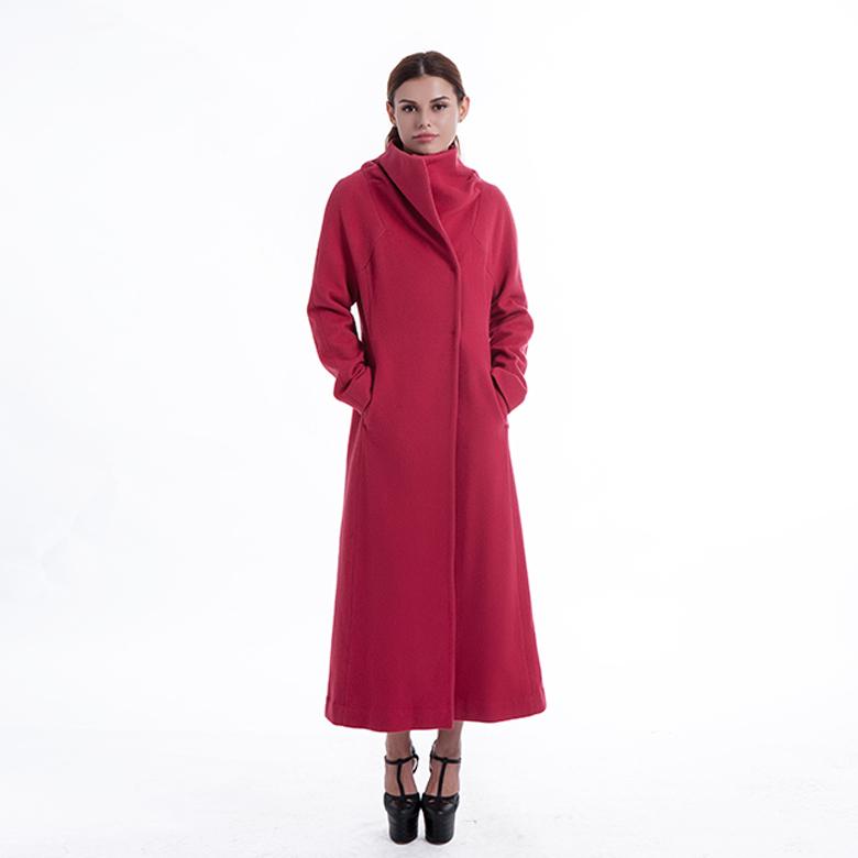 Gules Long Ladies Cashmere Coat