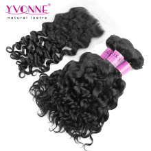 Brazilian Curly Virgin Hair with Lace Closure