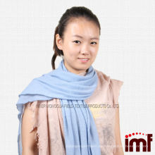 Para la venta Pura cachemira sólida teñida azul bebé tienda Bufandas Pashmina para las niñas