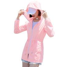 Outdoor Activities Hiking Zipper Reflective Hoodie Thin Sun Protection Jacket