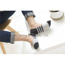 Fashion Men Low Cut Liner Cotton Socks with Sicila Gel Heel