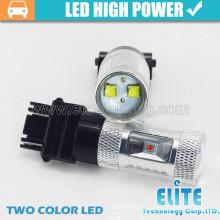 O mais novo!!! LED de alta potência de duas cores dupla dupla 3157 levou luz de giro de inversão de luz