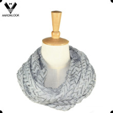2016 Lady New Style Chevron Knit Round Scarf