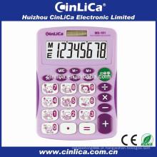 Eletrônico grande display calculator download célula solar com tampa dura MS-181