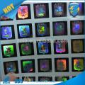 Autocollant d'étiquette de joint d'hologramme de matrice de points de conception personnalisée pour le chapeau et le vêtement, autocollant de logo hologrphique anti-contrefaçon