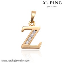 "33010 Custom metal Alphabet pendant women fashion gold plated with letter ""Z""gold pendant"
