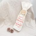Canvas Cotton Christmas Drawstring Wine Bags