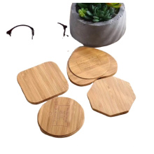 Amazon Hot Sell  Wooden Wireless Charger Fashion Design Round Shape  Wooden Bamboo Quick  Wireless Charger 10W Wood Charging Pad