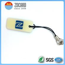 Tag redondo personalizado da bagagem do PVC do plástico