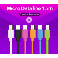 High Speed Mutiple Colors 1.5m USB Cable for Micro Port