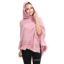New style 2017 winter fall computer knitted women cap premium acrylic poncho