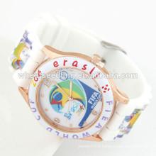 Montre siliconée de haute qualité fait une montre personnalisée