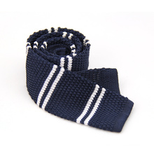 Polyester de microfibre de mode tricoté cravate de couleur unie