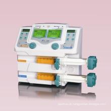 Bomba de seringa de duplo canal de equipamentos médicos
