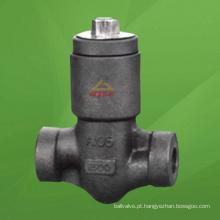 Válvula de retenção de pistão de vedação de pressão de aço compacta (GAH61H)
