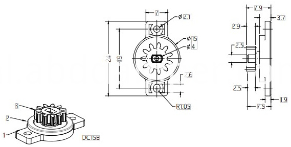 Plastic Gear Damper For Furniture