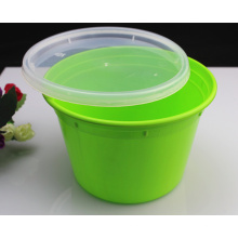 Récipient de nourriture jetable en plastique sûr de micro-onde de couleur verte de haute qualité