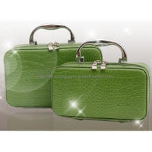 Personalized Cosmetic Bags Cosmetic Case Leather Bags with  Belt