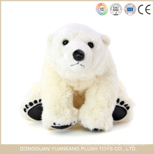 White plush polar teddy bear toy
