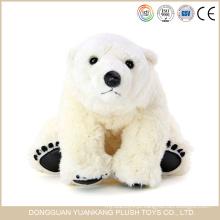 Brinquedo de ursinho polar de pelúcia branco