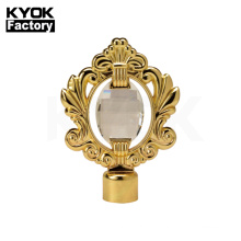 KYOK Curtain Rods Classic Style Curtain Accessories Metal With Diamond Complex HIgh Quality Curtain Finals
