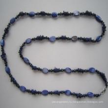 Длинные Pretty Shell & Crystal Мода Ожерелье