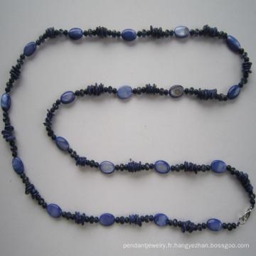 Longtemps jolie coquille & collier cristal mode