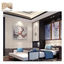 eco-friendly scenery pvc woven wallpaper for home decor