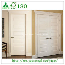 Raised Panel Design White Wooden Door