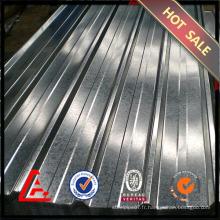 Tôle d'acier ondulé gi / tôle d'acier galvanisée / prix à bas prix toiture métallique