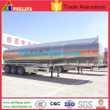 Semi remolque del tanque de la leche del agua de aluminio 3axle