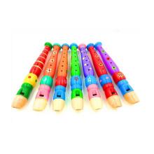 Material del cuerpo de madera Flauta de juguete, juguete de la flauta del bebé, flauta de madera de los niños