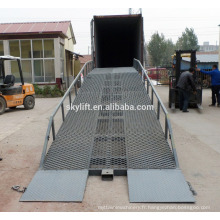 Chariot élévateur hydraulique en acier conteneurs mobiles chargement dock rampe