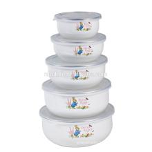 5Pcs ice cream round bowl &PE lid