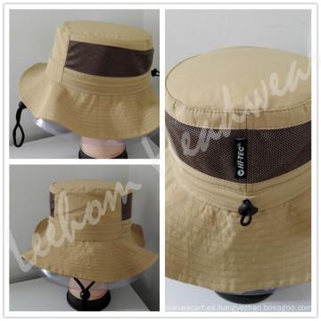 Promocional pesca cubo sombrero con malla de nylon (LB15100)