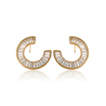 97095 xuping unique design 18k gold color synthetic zircon fashion ladies drop earrings