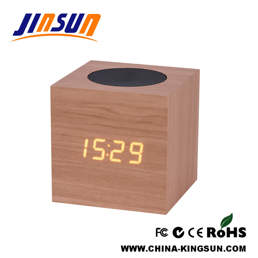 Led Clock With Bluetooth Speaker