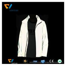 Chaqueta cortavientos reflectante chaqueta para hombre / mayor chaqueta reflectante de seguridad de alta visibilidad