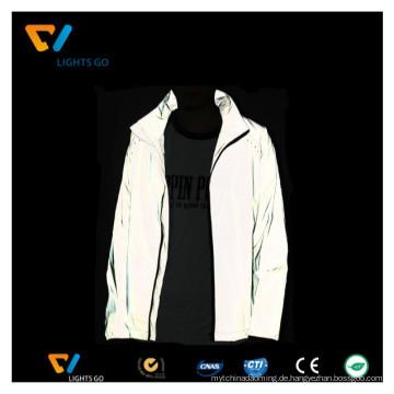 Windschutzjacke reflektierende Windjacke für Mann / Großhandel hohe Sichtbarkeit Sicherheit reflektierende Jacke