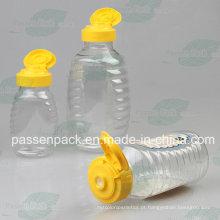 150g pet espremer garrafa de mel com tampão de válvula de silicone (PPC-PHB-08)