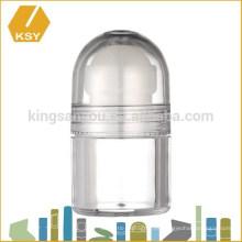 Crema de embalaje vacía de plástico de acrílico jarra de bambú frascos de cosméticos