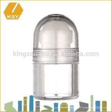 Emballage en crème vases en plastique acrylique en plastique à base de pot de bambou