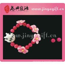 Venda quente rosa Voodoo boneca artesanal Vingtage pulseira