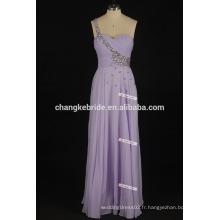 Une épaule longue tenue Robes de bal Sexy Side Slit Open Back Hot Pink et Black Prom Dresses