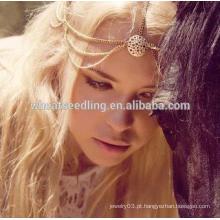 Cabelo decoração cabelo banda cabeça headbands moda indiano boho cabeça jóias