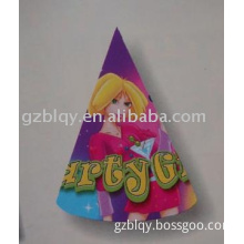 printed hat,party hat,paper hat for party girl