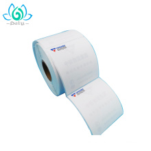 Etiqueta engomada de la etiqueta de precio del pre-diseño de papel al por mayor de la copia para el mercado estupendo